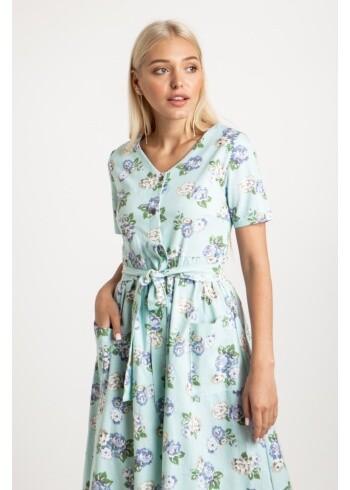 Платье Мери одуванчик голубой 19074-2