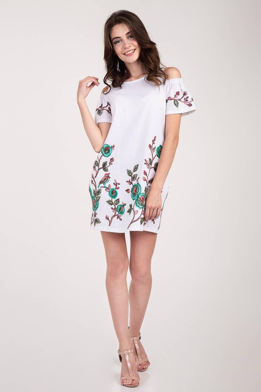 Платье женское лен Фонарик 61
