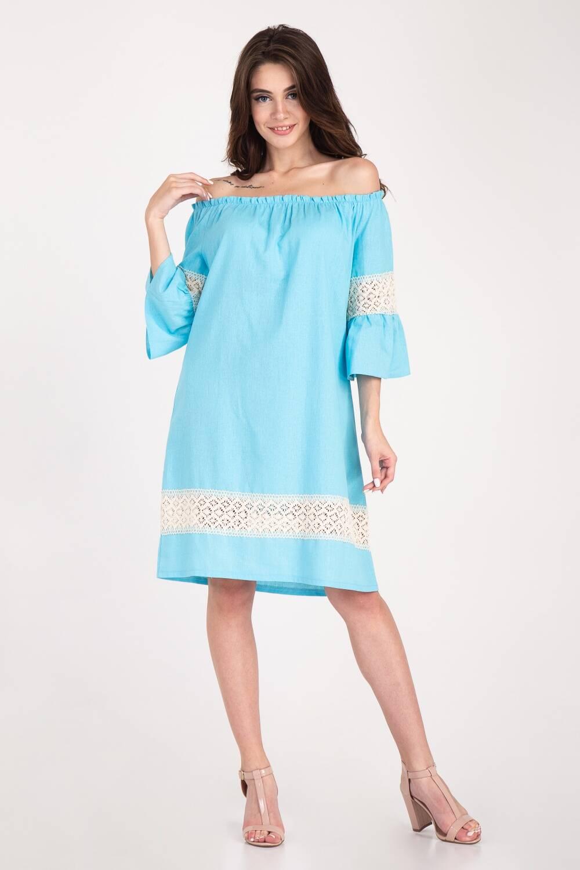 Платье женское Крестьянка цветочный принт 68