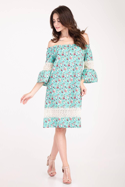 Платье женское Крестьянка цветочный принт 69