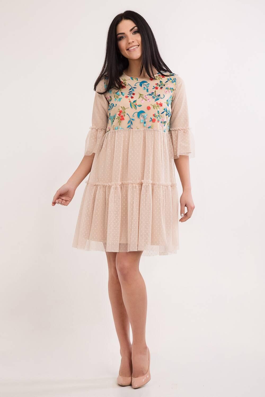 Женское платье Изабелла вышивка 45