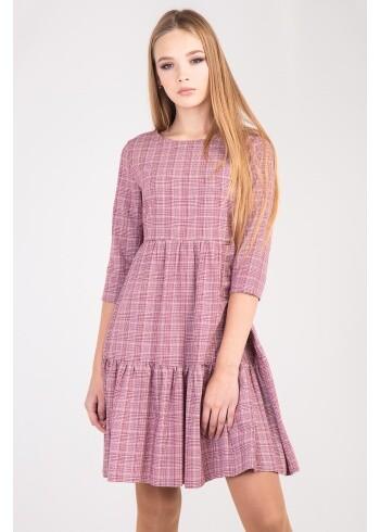 Женское платье Адель-клетка 106