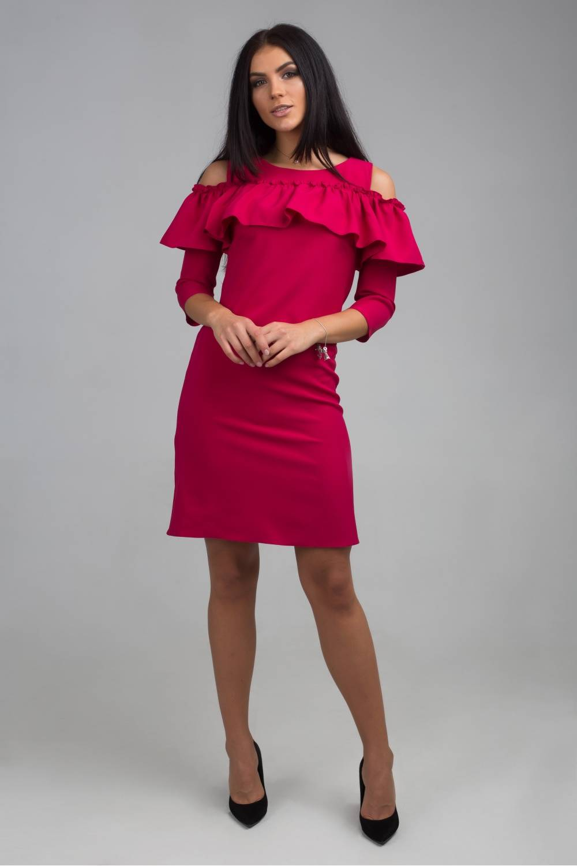 Женское платье Сабрина четвертной рукав 17107