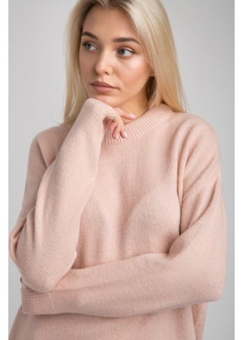 Женский свитер однотон- оверсайз 19102