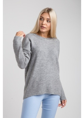 Женский свитер однотон-оверсайз 19103