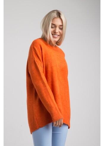 Женский свитер оранжевый-оверсайз 19106
