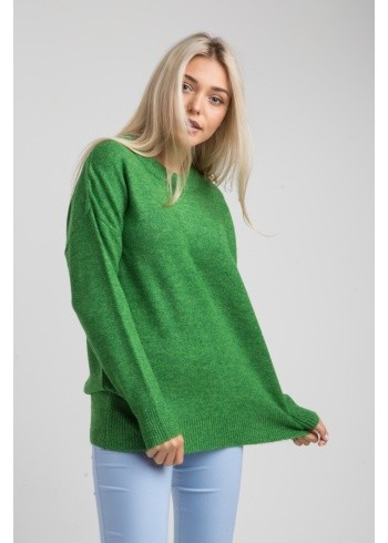 Женский свитер зеленое яблоко-оверсайз 19107