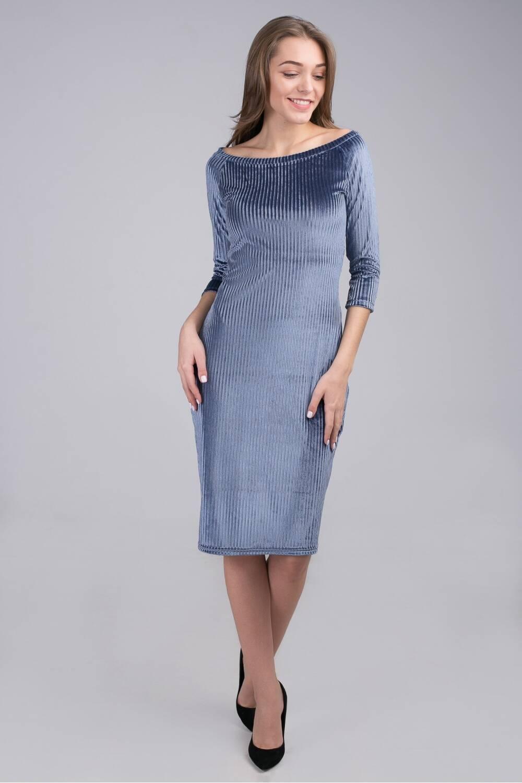 Платье женское бархатное Каролина 35