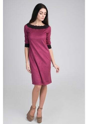Женское замшевое платье Сюзанна 16129
